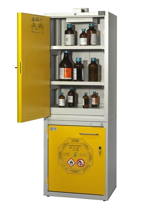 Armadio combinato per prodotti chimici e infiammabili a 2 ...