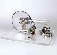 Motore Stirling trasparente, non interfacciabile