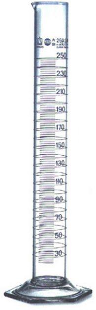 Cilindri graduati in vetro a forma alta da 250 ml