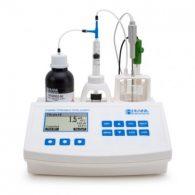 pHmetro e minititolatore per acidità totale nel vino