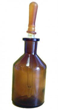 Contagocce di Ranvier da 100 ml in vetro scuro