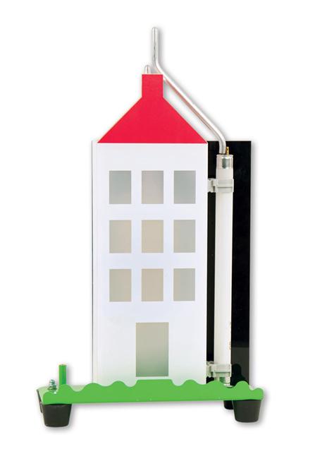 casa con parafulmine