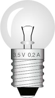Lampade E10 3.5V 0.2A cf. 10 pz