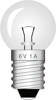 Lampade E10 6V/1A cf. 10 pz